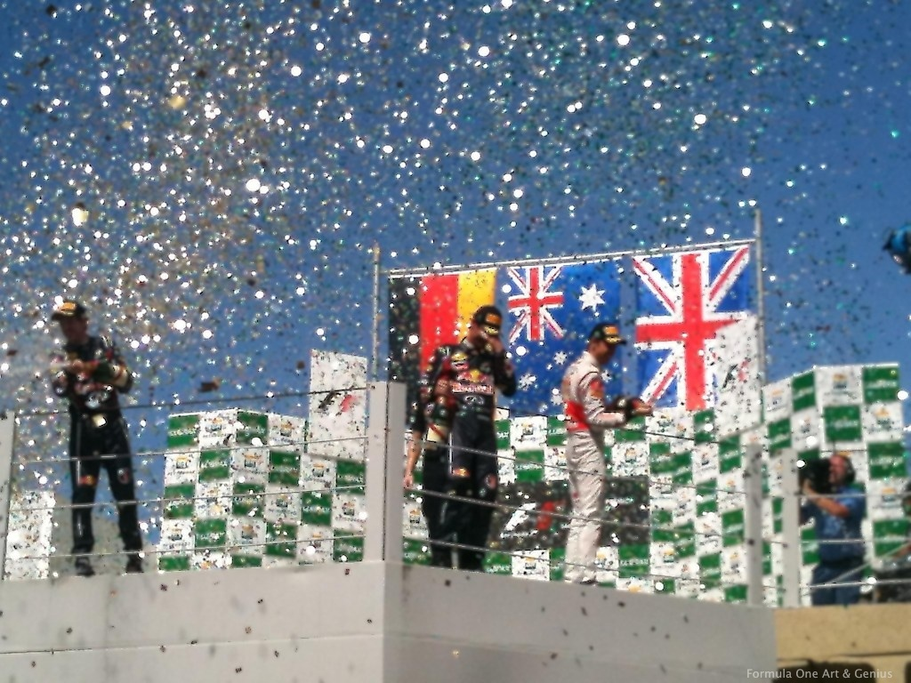 Brazil 2011 podium