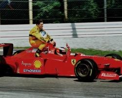 Schumacher & Fisichella 1997